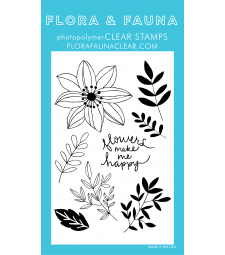 Flora and Fauna Happy Flowers Clear Set 20218