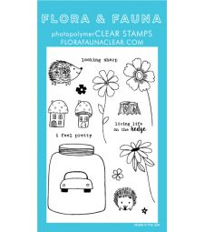 Flora and Fauna Hedgehog Life Clear Stamps 20237