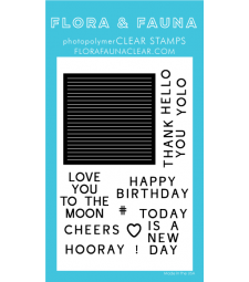 Flora and Fauna Letterboard Clear Stamp Set