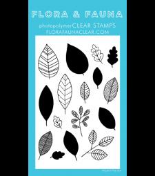 Flora and Fauna Leaf Pattern Clear Set 20280