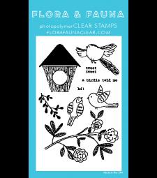 Flora and Fauna Woodgrain Bird 20301