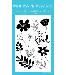 SALE - Flora and Fauna Be Kind Flowers Clear Set 20306