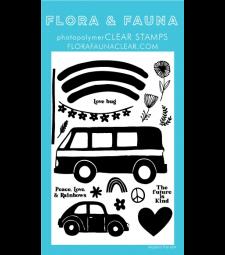 Flora and Fauna Rainbow Van Clear Set 20361