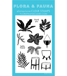 Flora and Fauna House Plants Clear Set 20365
