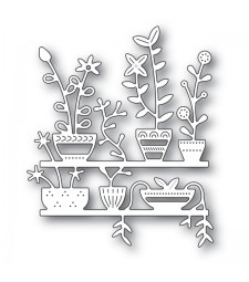 Poppy Stamps Spring Pots Shelves 2174