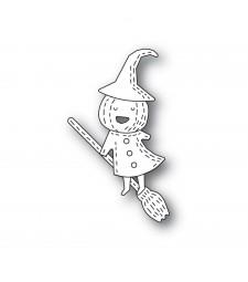Poppystamps Whittle Pumpkin Witch 2265