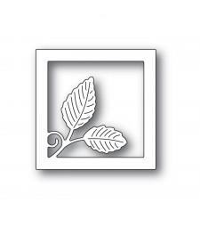 Poppystamps Intricate Leaf Square Frame 2321