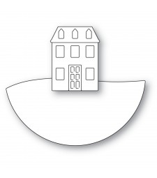 poppystamps Layered House Globe 2488