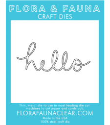 Flora and Fauna Hello Cursive (30046)