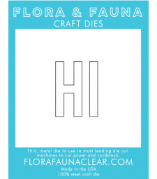 Flora and Fauna Large HI Die 30093