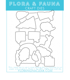 Flora and Fauna Home for the Holidays Matching Die