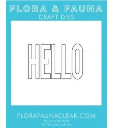 Flora and Fauna Hello Typed Die 30151