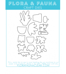 Flora and Fauna Plant Party Set Matching Die 30248