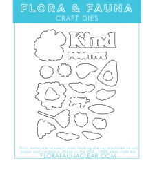 Flora and Fauna Stay Kind Brush Petal Die 30249