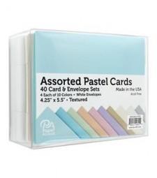 ASSORTED CARD & ENVELOPE SETS  - Textured Pastels