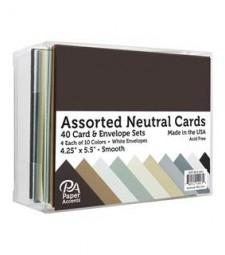 ASSORTED CARD & ENVELOPE SETS - neutral smooth