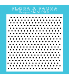 Flora and Fauna Mini Polka Dot Stencil