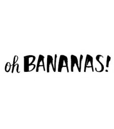 5639d - oh bananas rubber stamp