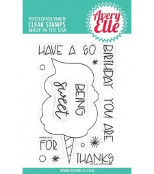 Avery Elle Cotton Candy Clear Stamp Set
