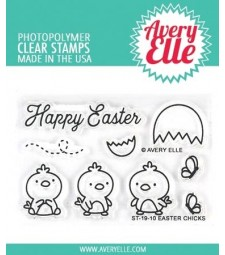 Avery Elle Easter Chicks Clear Stamps