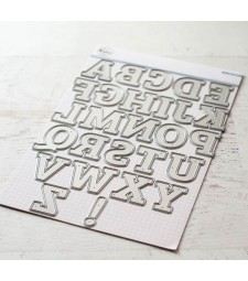 Pink Fresh Adore Alphabet Die Set