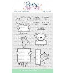 Pretty Pink Posh Animal Signs Stamp Set