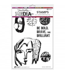NEW Dina Wakley Be Bold Stamp Set