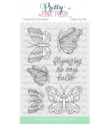Pretty Pink Posh Beautiful Beautiful Butterflies Stamp Set