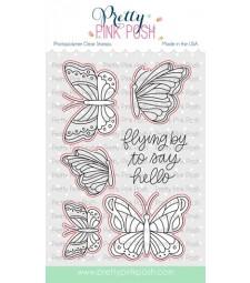 Pretty Pink Posh Beautiful Butterflies Coordinating Dies
