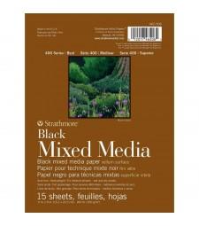 "Strathmore 400 Series Mixed Media Pad - Black 6""X8"""
