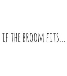 If the broom fits . . . rubber stamp 5757d