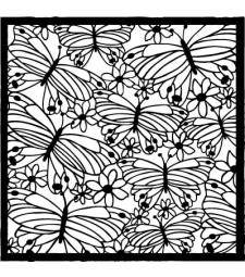 Flora and Fauna Butterfly Stencil 40010