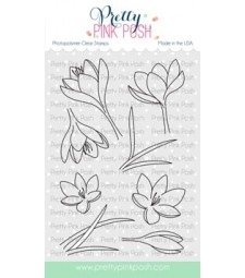 Pretty Pink Posh Crocus Flowers  stamp set
