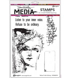 Dina Wakley Refuse to be Ordinary Stamp Set
