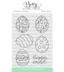 Pretty Pink Posh Easter Eggs Stamp Set