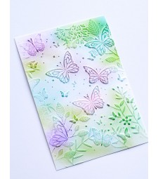 Memory Box Butterfly Gathering 3D Embossing Folder ef1005