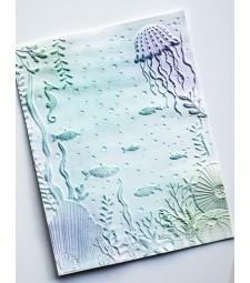 Memory  Box Underwater 3d Embossing Folder