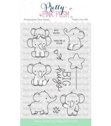 Pretty Pink Posh Elephant Friends Stamp Set