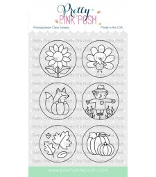Pretty Pink Posh Fall Circles Stamp Set