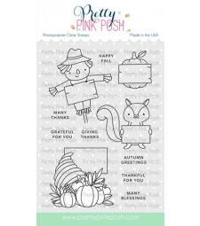 Pretty Pink Posh Fall Signs Stamp Set