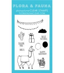 Flora & Fauna Llama Clear Stamp Set