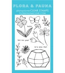 Flora & Fauna Octagon Greenhouse Stamp Set