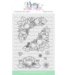 Pretty Pink Posh Floral Corners Stamp Set