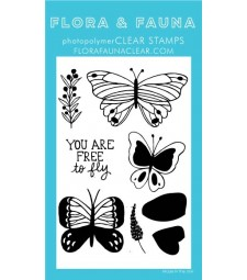 Flora and Fauna Free to Fly Butterfly Set 20321