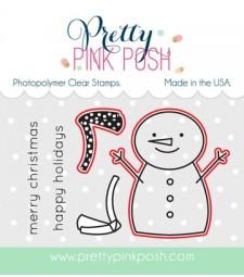 Pretty Pink Posh Happy Snowman Dies