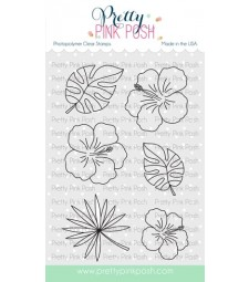 Pretty Pink Posh Hibiscus Flowers Stamp Set