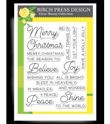 Birch Press Joy and Peace clear stamp set