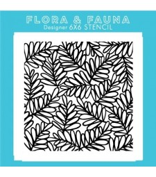Flora and Fauna  Laurel Branch Stencil 40015