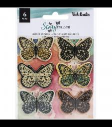 Vicki Boutin Storyteller layered vellum butterfly stickers