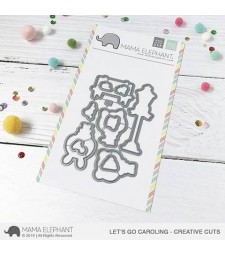 SALE - Mama Elephant Let's Go Caroling - Creative Cuts